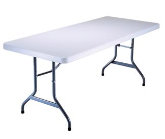 6' White Folding Table